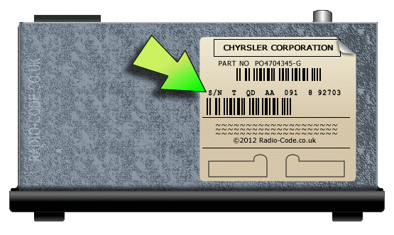 Chrysler Radio Code Serial Number Examples