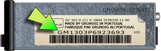 Vauxhall Radio Code Serial Number Examples